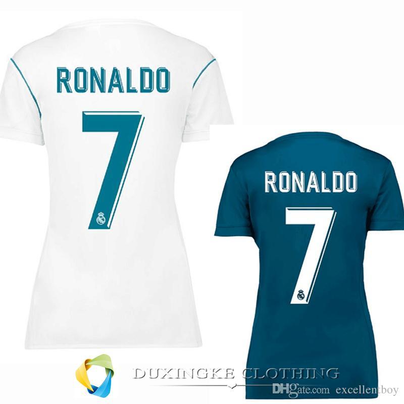 promo code 6d452 b2922 women 2017-2018 Real Madrid home soccer Jersey.D011