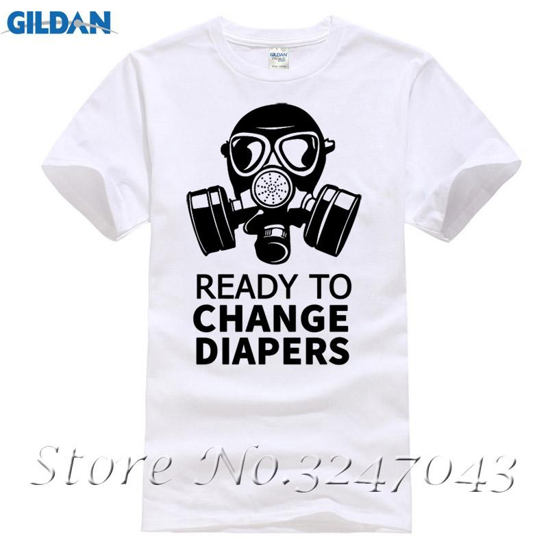 T-shirts Back To Search Resultsmen's Clothing Ready To Change Diapers Dad To Be Gas Mask Mens T-shirt New Men Fashion Short-sleeve T Shirt Mens Carefully Selected Materials