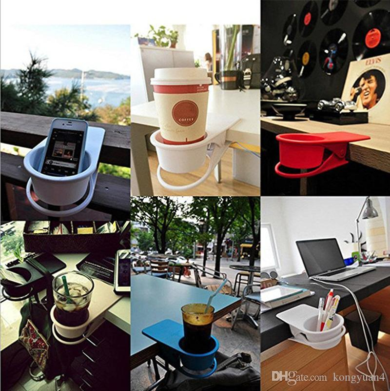 Bere Clip da portabicchieri - Home Office Table Desk Side Enorme Clip Bere acqua Bevanda Soda Coffee Holder Holder Tazza piattino Clip Design