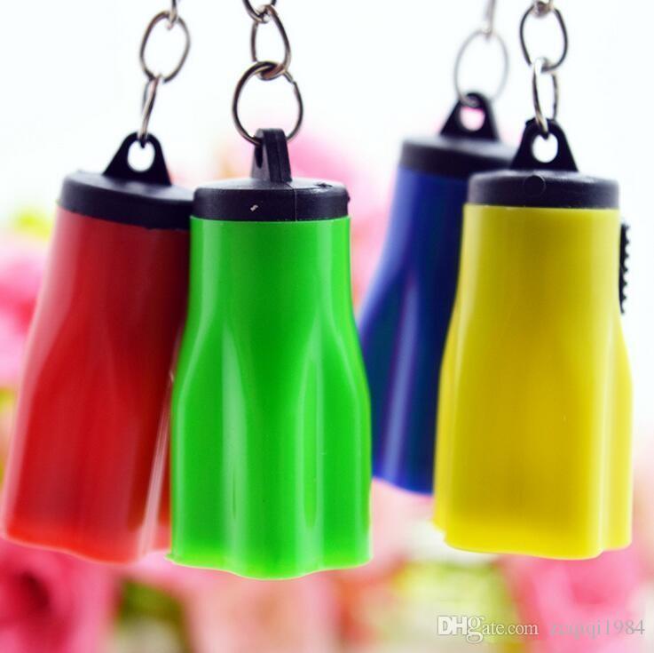 Flower Shape Portable Cute LED luminoso torcia portachiavi Mini KeyChain Torch Torce Plum keyRing l'escursionismo