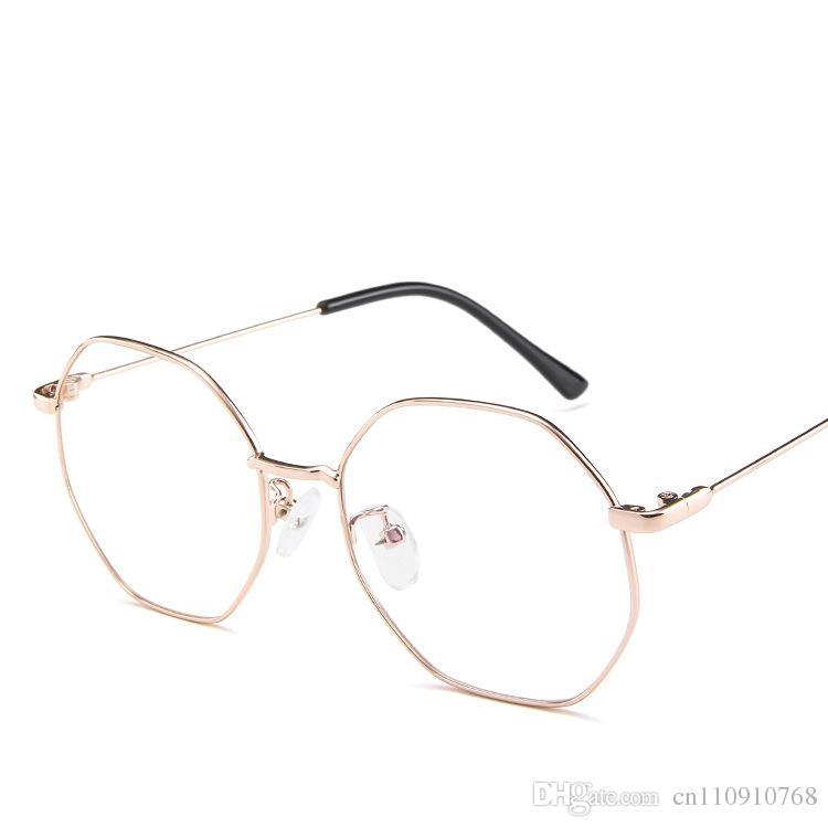 5ead4431a60 2019 Korean Style Women S Eyeglasses Glasses Lunette Lens Color Cat 4  Irregular Shape Full Rim Metal TA61 Www. BOTERN.Com From Cn110910768