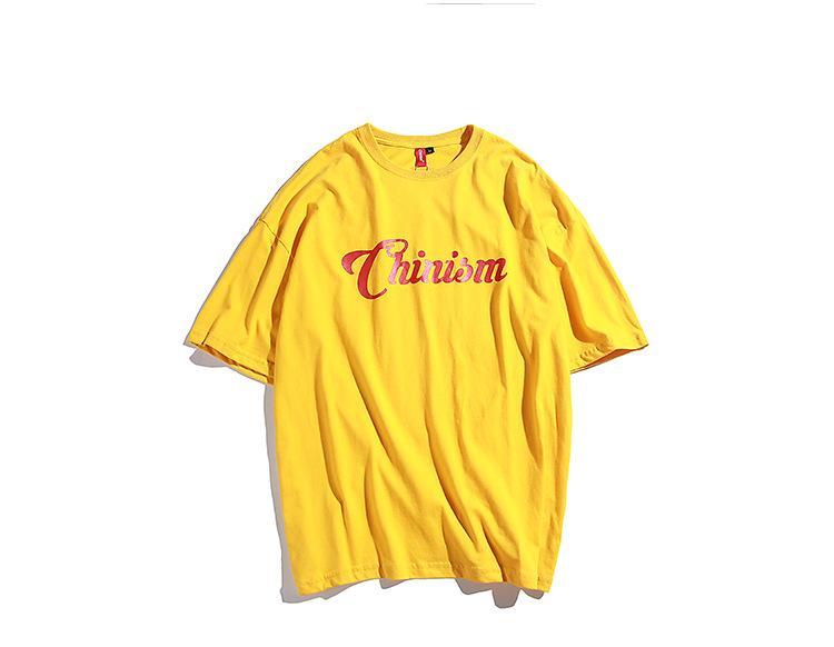 0ec59c0b214 Letter Printing 100% Cotton T-shirt Male Summer Crew Neck Short ...