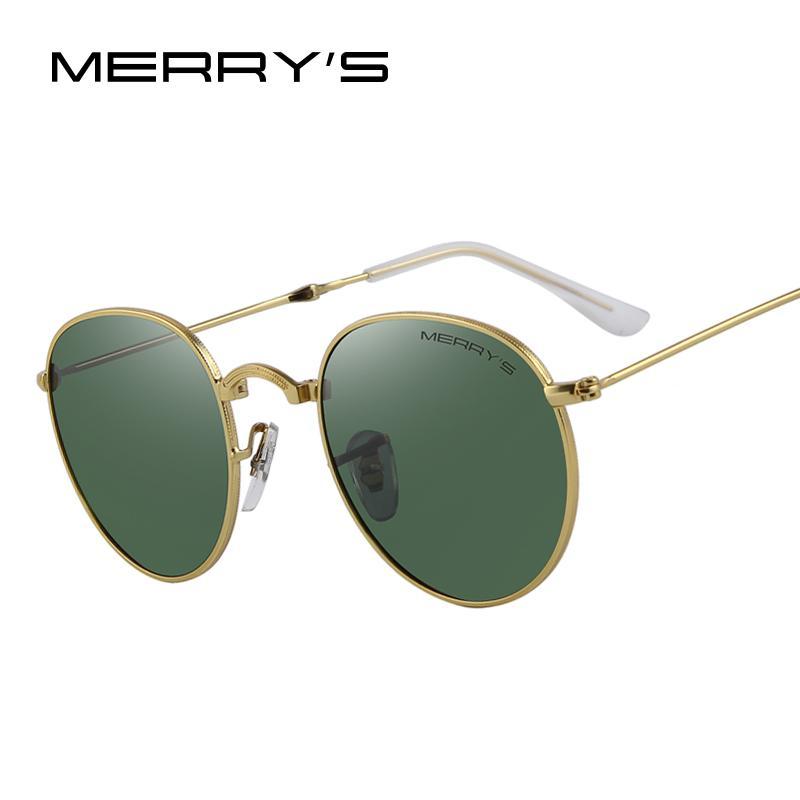 d5cf1d8fc98 MERRY S Retro Women Folded Sunglasses Men Classic Polarized Oval Sunglasses  S 8093 Round Glasses Designer Glasses From Lotusflowern
