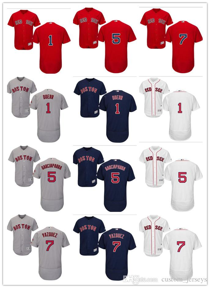 2019 Custom Men Women Youth Majestic Red Sox Jersey  1 Bobby Doerr 5 Nomar  Garciaparra 7 Christian Vazquez Home Blue Red Baseball Jerseys From Deem 3ab60e20f1f