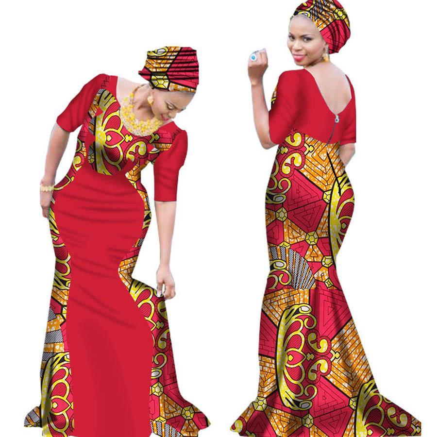 8196e799d8e Acheter 2018 Robes De Banquet De Femmes Africaines Tissu Cire Impression  Soirée Maxi Plus Grande Taille Dashiki Ankara Vêtements Africains Robe  Longue De ...