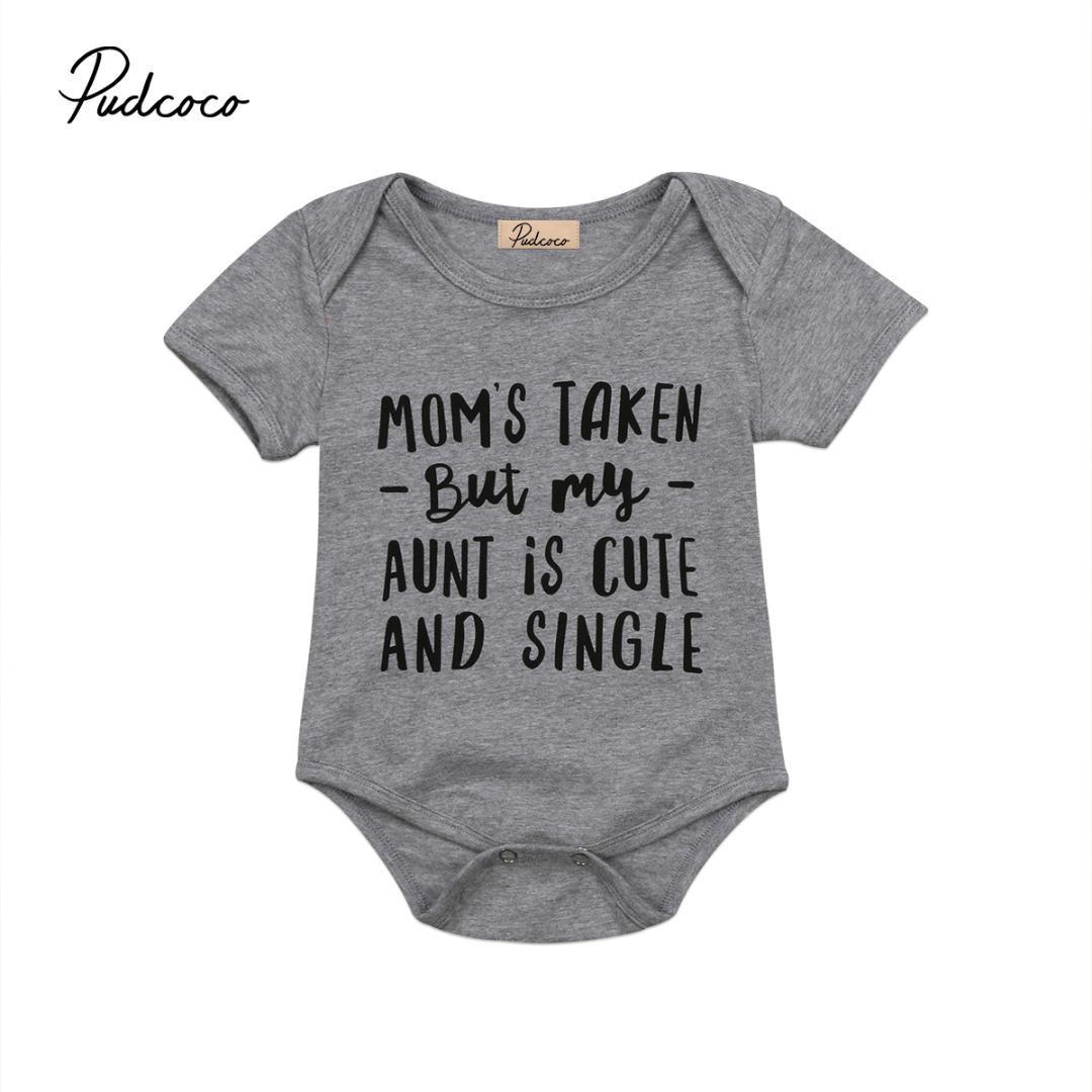 eb88dbc14922d Newborn Infant Cute Mom Aunt Baby Girl Boys Bodysuit Outfit Sunsuit Clothes