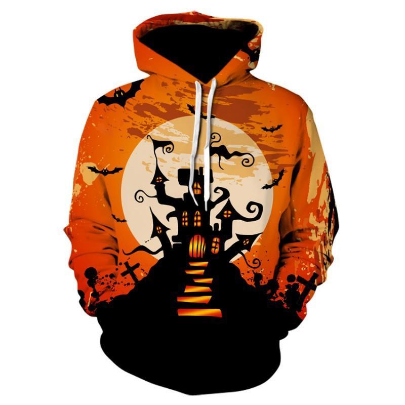 Men's Clothing Jack O Lantern Pumpkin Halloween Clothing Hoodies Sweatshirts Men 2018 New Winter Autumn Hooded Hoody Holiday Costumes Hoodie