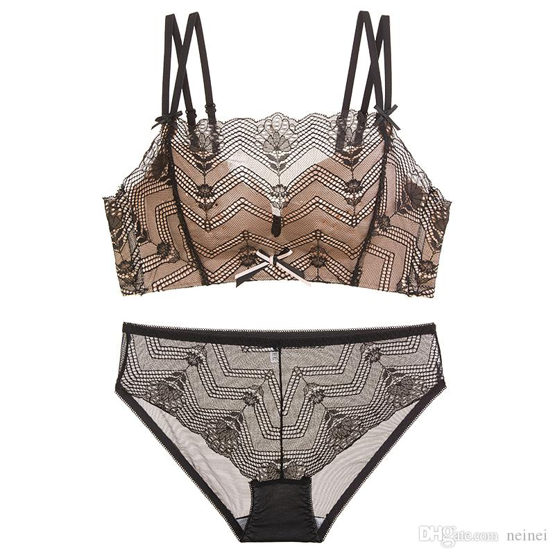 e18d42680 2018 new summer floral lace breathable sexy women underwear sets seamless  thin cup push up young ladies bow lingerie for girls