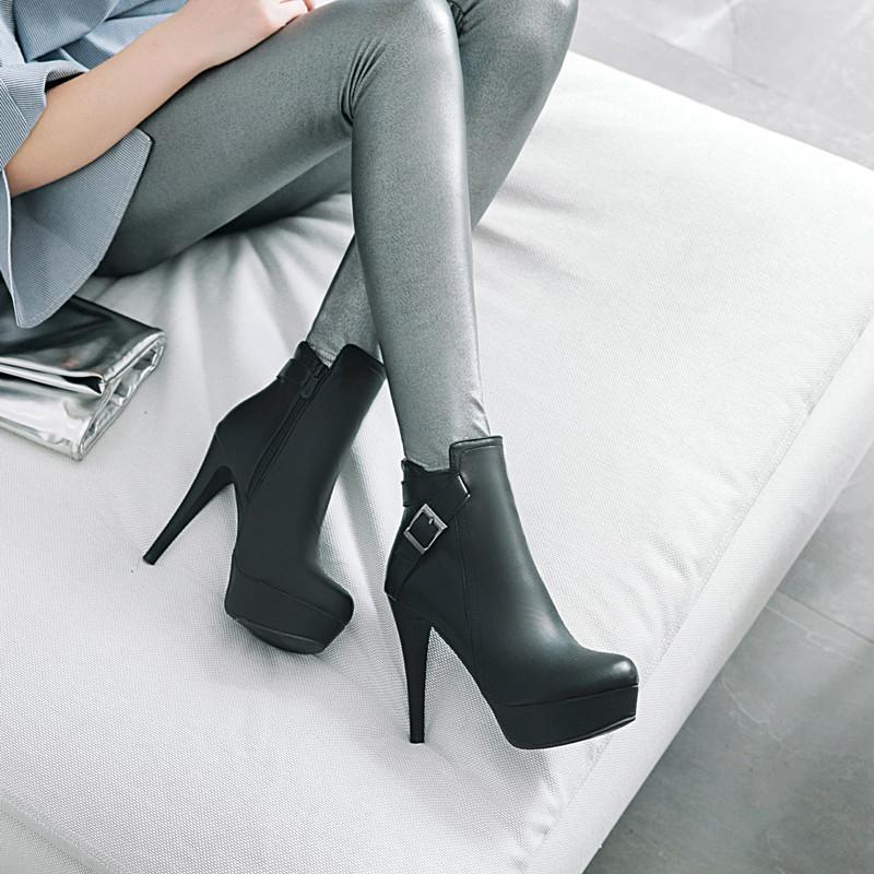 6eba0fae29f86 Thin High Heels Ankle Boots Frauen Schuhe Sexy Spitz Zip Herbst Winter  Stiefel Female Boot
