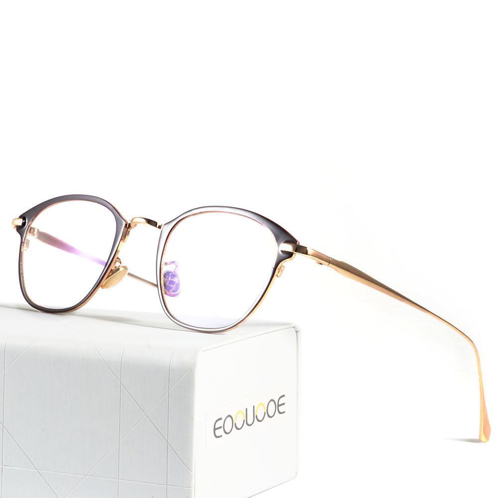 bb888970d9 Compre Eoouooe Diseño Retro Mujeres Hombres Metal Nariz Gafas Ópticas Gafas  De Prescripción Femenina Gafas Oculos De Grau Miopía Gafas A $26.53 Del ...