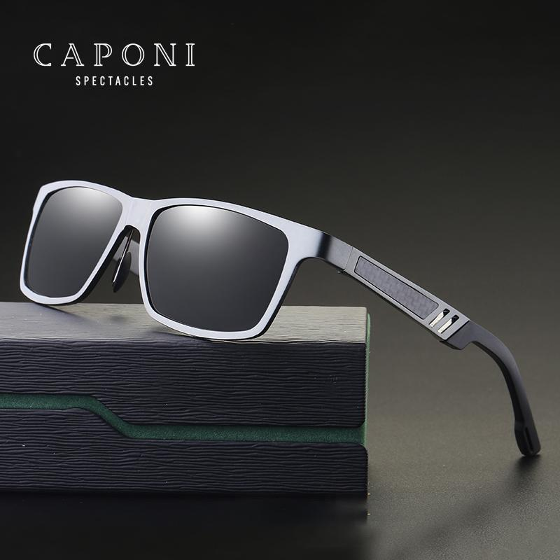 dcd81733a73 Compre CAPONI Magnesio De Aluminio Polarizado Hombres Gafas De Sol Espejo  Gafas De Sol Gafas Cuadradas Accesorios Para Hombres Gafas 6560 A  26.43 Del  ...