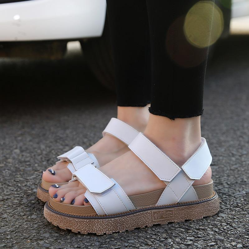 247f58a9f761a4 2018 Europe And America New Summer Sandals Female Roman Cakes Thick ...