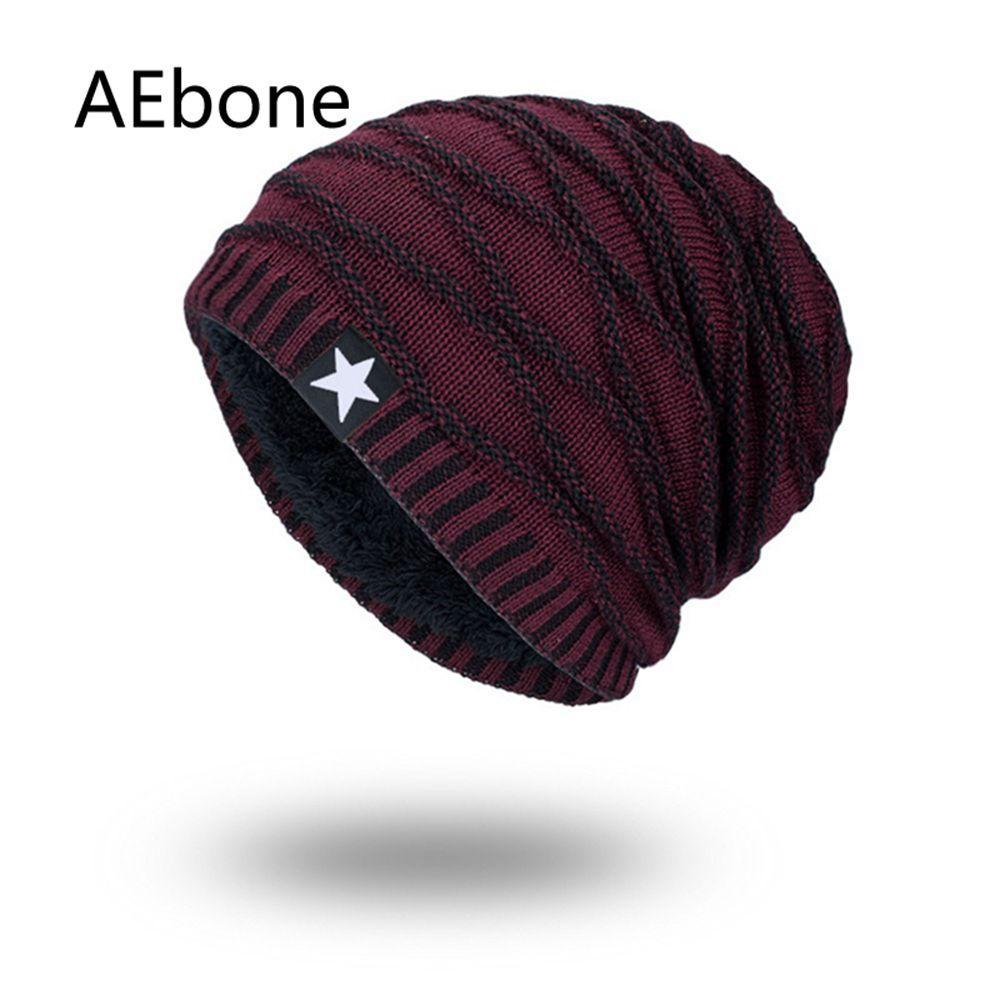 AEbone Bonnet Homme Men Knitted Beanies Hats Winter Hats For Man Burgundy  Baggy Beanie Hat Male Velvet Scrunchies AE8259 UK 2019 From Peachguo 4efd0200f662