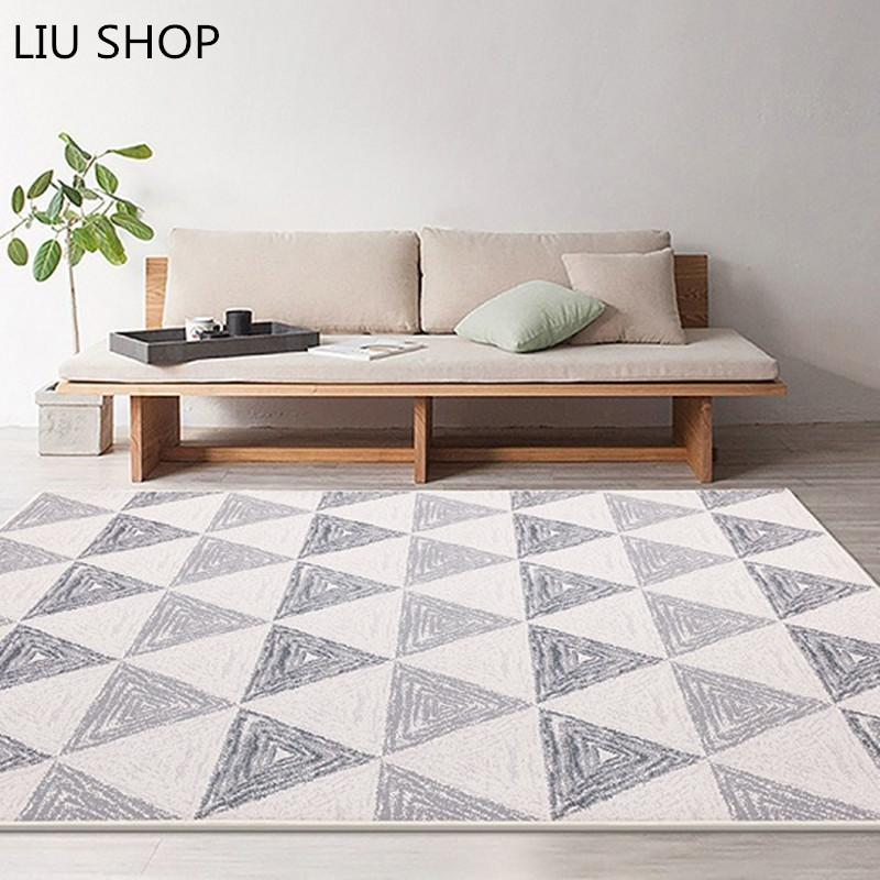 European Style Grey Color Stripe Area Rugs Bedroom Mat Non Slip