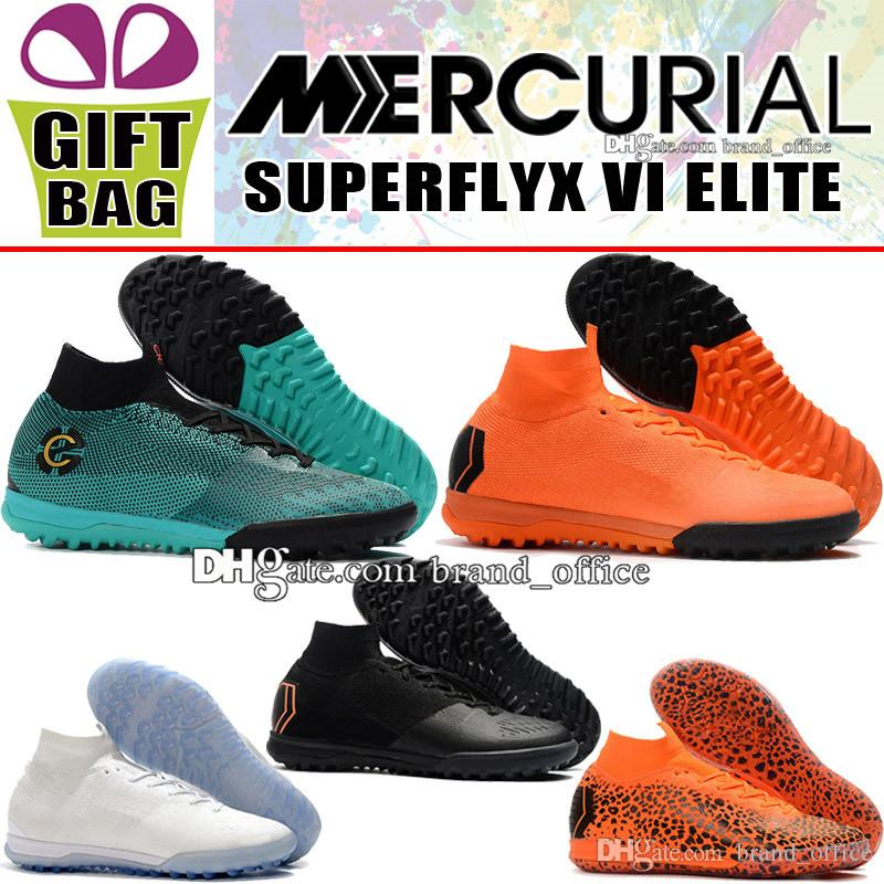 e2371ba4f Men High Mens Mercurial SuperflyX VI Elite IC TF CR7 Indoor Soccer Boots  Cristiano Ronaldo Socks ACC Soccer Cleats Turf Football Shoes Boot Children  Boots ...