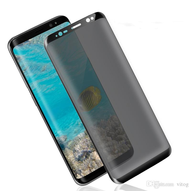 For Galaxy S9 S9 Plus S8 Note8 Screen Protector Privacy Tempered Glass Anti Glare HD Privacy Screen Protector Film