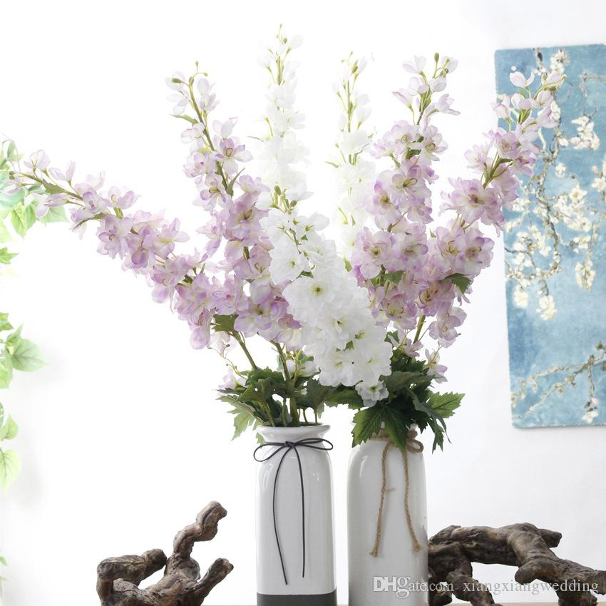Wedding silk flower artificial flower long shoot 105cm consolida wedding silk flower artificial flower long shoot 105cm consolida ajacis simulation flower home decoration vase arrangement mightylinksfo