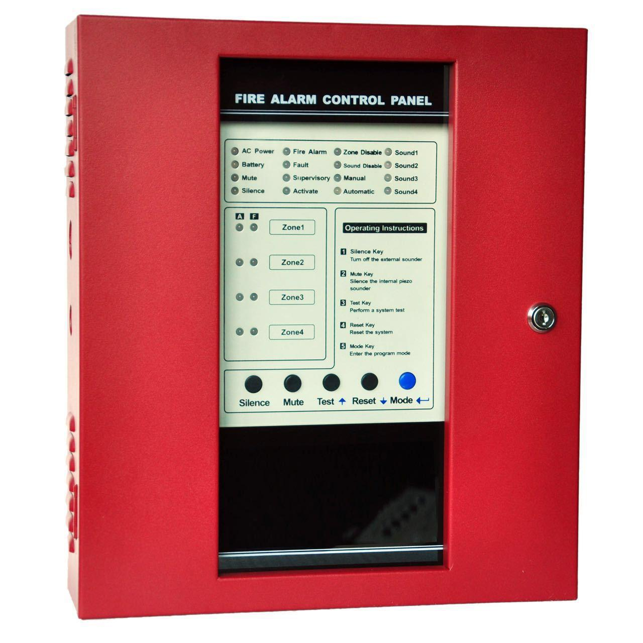 Hot Products 4 Zone Security Alarm Control Panel Conventional Fire For Home School Shop
