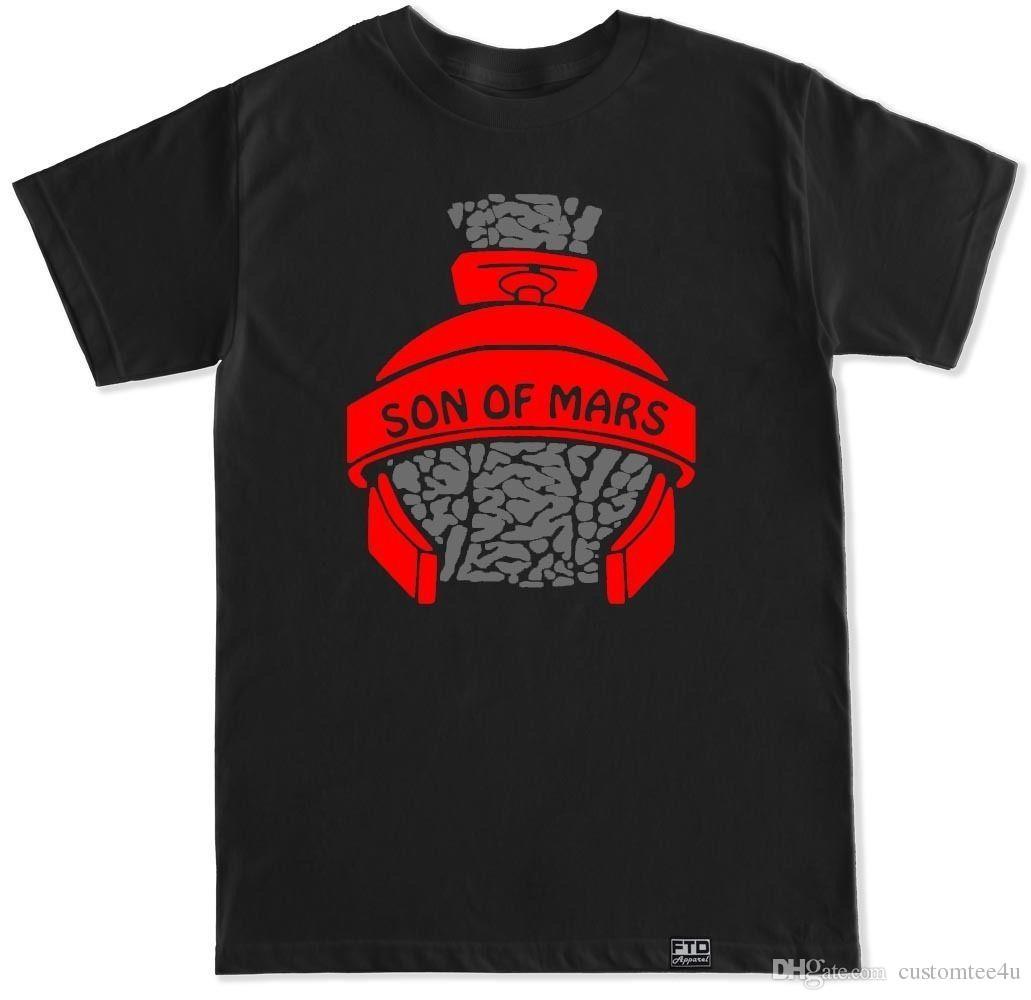 aa10998cdf9d1 Air Son Of Mars Blue Red Purple Grape Black White Cement Matching Shoes T  Shirt Tee Shirt For Men Vintage Short Sleeve Cotton Custom Big Siz