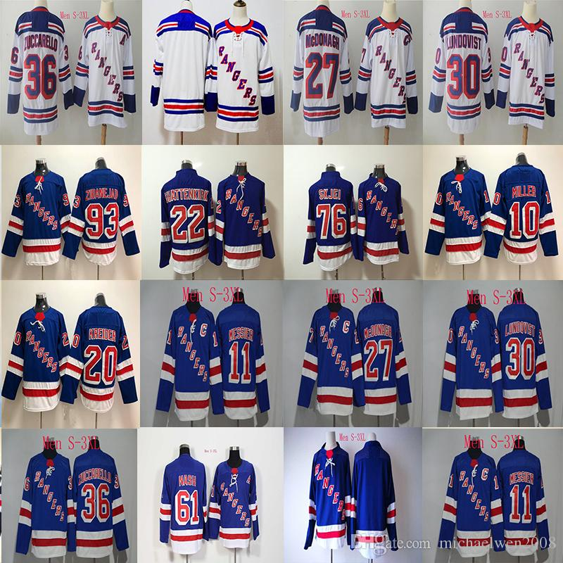 sale retailer cb93e d95ac 11 Mark Messier Jersey 2017-18 Season New york Rangers Jersey 27 Ryan  McDonagh 30 Henrik Lundqvist 36 Mats Zuccarello Hockey Jerseys Cheap