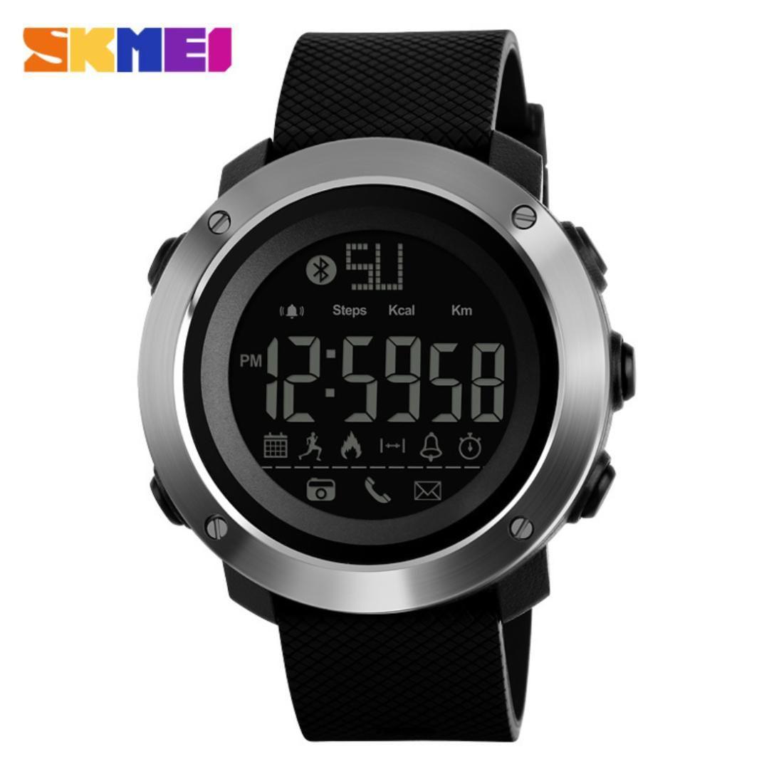 4f8254f2c624 Compre Skmei Unisex Led Reloj Digital De Silicona Hombre Relojes De Pulsera  Redondo Negro Hombre Reloj Deportivo Nueva Moda Casual Masculino Reloje  2018 A ...