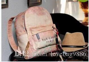 73a38a76ad Hot Sale Men Fashion Women Graffiti Printed Canvas Backpacks Luxury ...