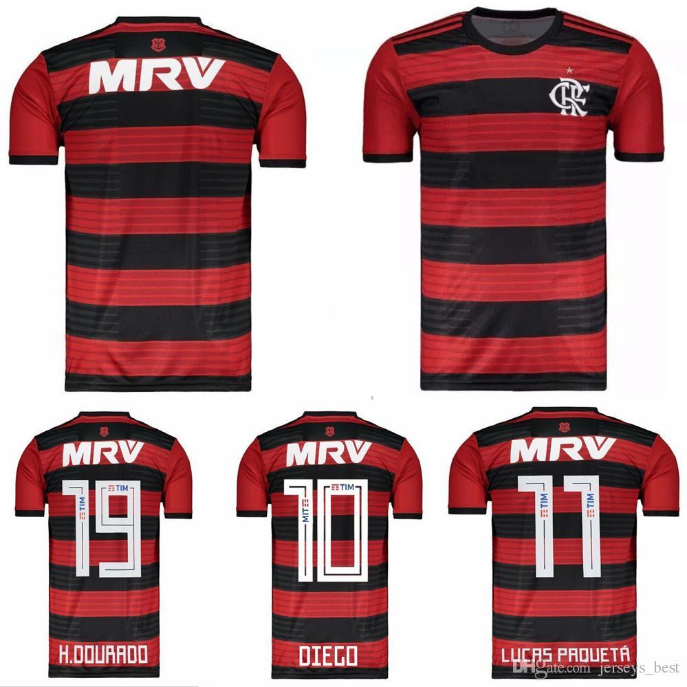 2018 2019 Jersey De Fútbol Flamengo 18 19 Flamengo Home Camisa De Futebol  GUERRERO DIEGO Maillot 2019 VINICIUS JR Camiseta De Fútbol Por  Jerseys best 1cead8dc13bf8
