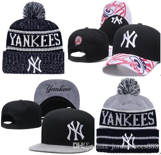 a65be6d7862 2019 New York Hat Snapback Cap Champions NY Beanie All Teams Men Women  Knitted Beanies Wool Hat Knit Bonnet Beanie Gorro Winter Cap Black Baseball  Cap Army ...