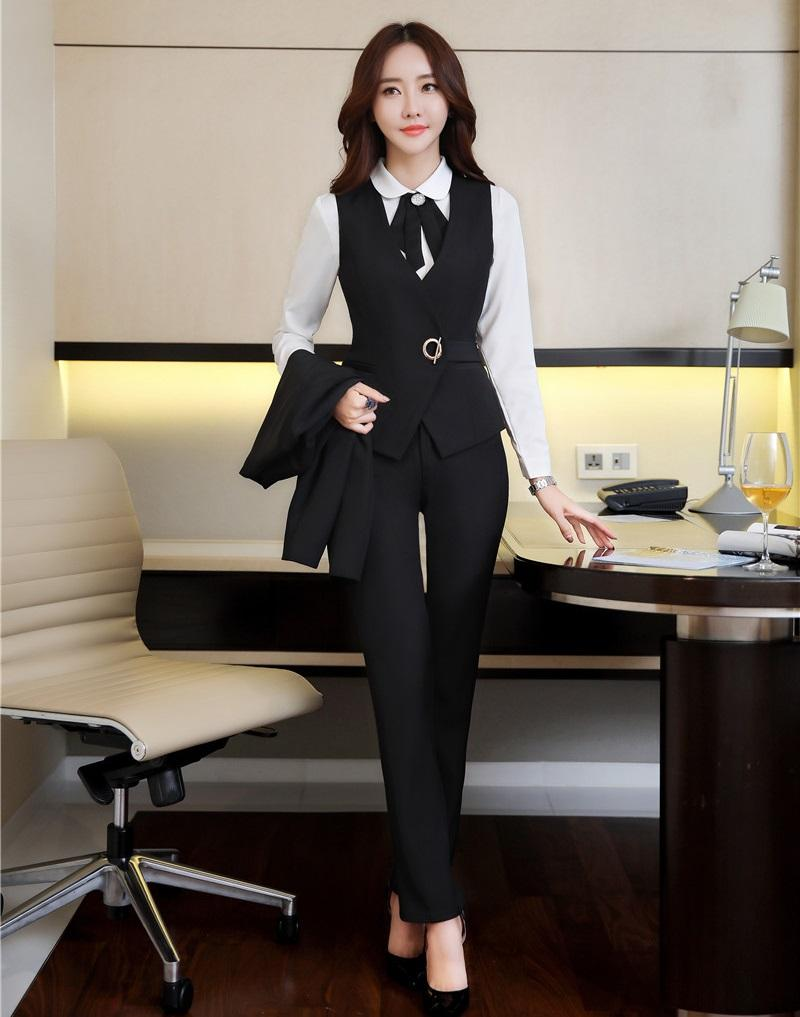 2019 new style fashion set women business suits with pant and top