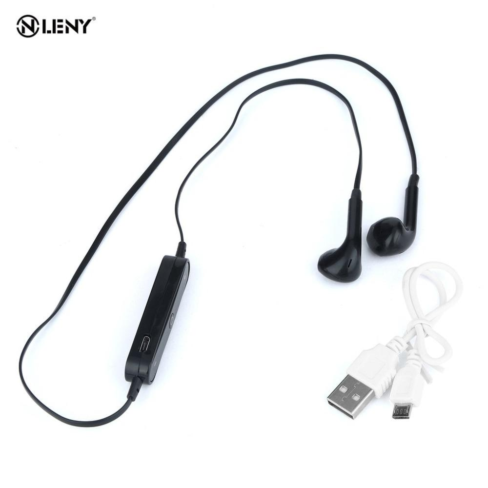 089f7982e93 2017 New Arrival S6 Bluetooth 4.1 Stereo Earphone Hook Freestyle Bin Aural  Headset With Mic Wireless Sport Headphone For Samsung Wireless Bluetooth  Earbuds ...