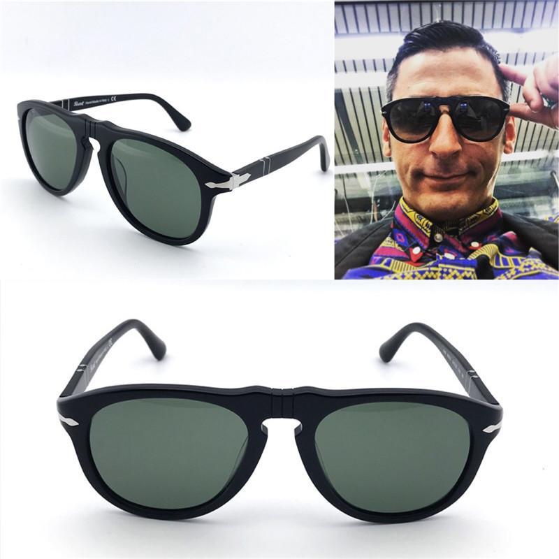 23495748977db 2019 New Persol 649 Sungasses Classical Model Aviator Design Glass Lens Top  Quality Men Designer Sunglasses With Case UV400 Lens From Kaihong713