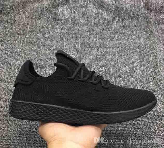 lowest price cfcad 28fec Compre 2019 Nuevos Originales De La Llegada Pharrell Williams Tenis Hu Zapatos  Stan Smith 3D Primeknit Deportes Moda Mujeres Hombres PW Raza Humana Zapatos  ...