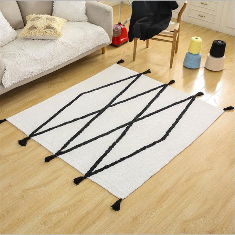 Grosshandel Neue Moderne Einfache Nordischen Stil Baumwolle Teppiche