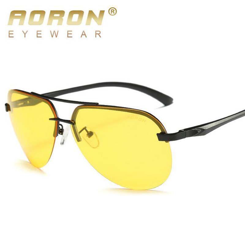 66b247ffbb435 Compre Marca Óculos De Sol Dos Homens Polarizados Óculos De Sol Noite Óculos  De Condução Lente Amarela Homens Óculos De Condução Moda Óculos De Sol Para  De ...
