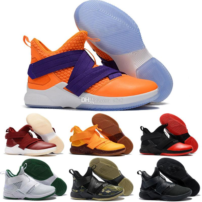794e37af7bee9 ... closeout 2018 new lebron soldier xii 12 ep mens basketball shoes for  top quality 12s svsm