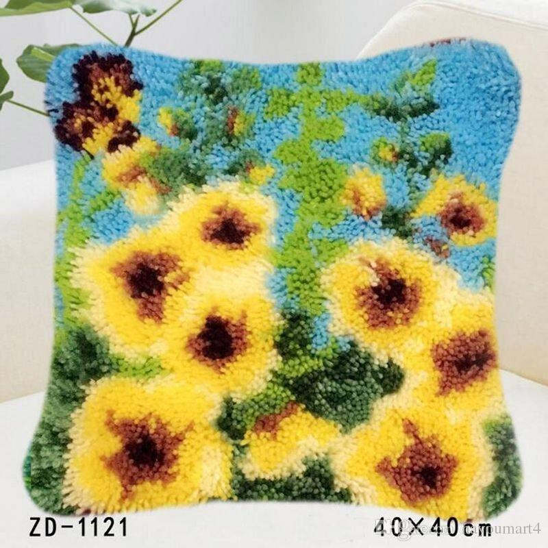 Flowers Patterns Handmade Pillowcase Wool Cushion Cover Artificial