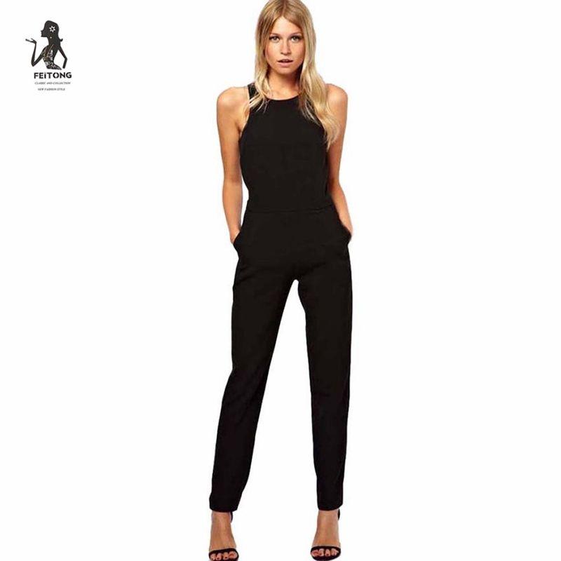 29d6f5531 Compre Mono Casual Mujer Eleblack Mono Mujer Pantalón Largo Playsuit Verano  Elegantes De Fiesta   LREO A  25.74 Del Fangfen