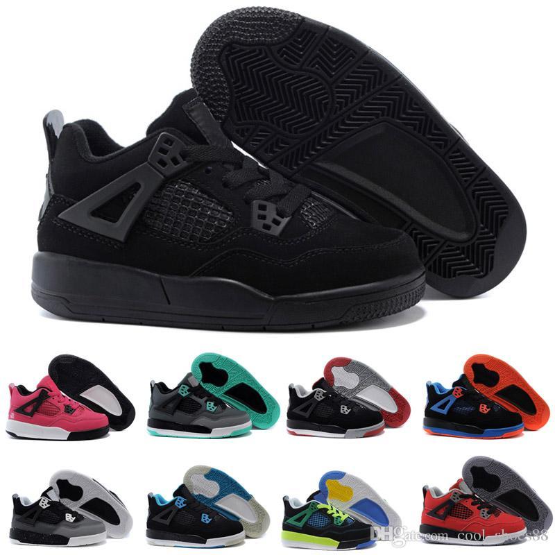 cheaper d6694 0d12e Compre 2018 Nike Air Jordan 4 13 Retro Crianças 4 4s Criados TORO BRAVO  Vermelho Fogo Preto Vermelho Das Mulheres Dos Homens Tênis De Basquete Tênis  De Alta ...