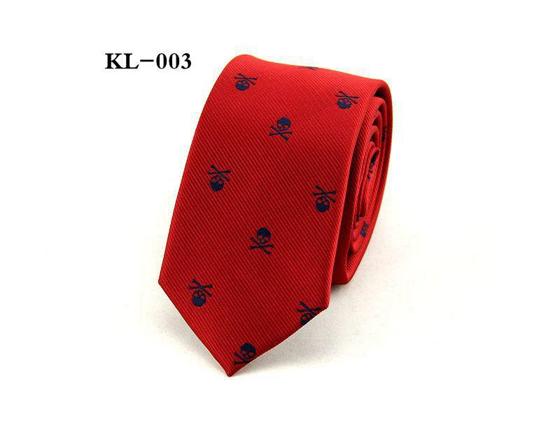 Herrskalle Tie Skinny 6cm Fritid Slipsar Tecknad Party Bröllop Casual Polyester Slipsar 1200 Tjock Business Red Black Purple /