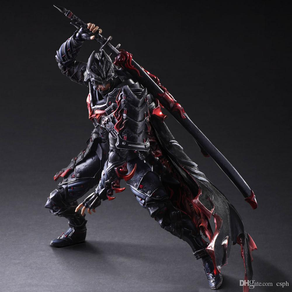 Movies Video Game Cartoon Anime Games movie and TV PlayArts change PA change body Bushido Batman super mobile High About 27cm Action Figures