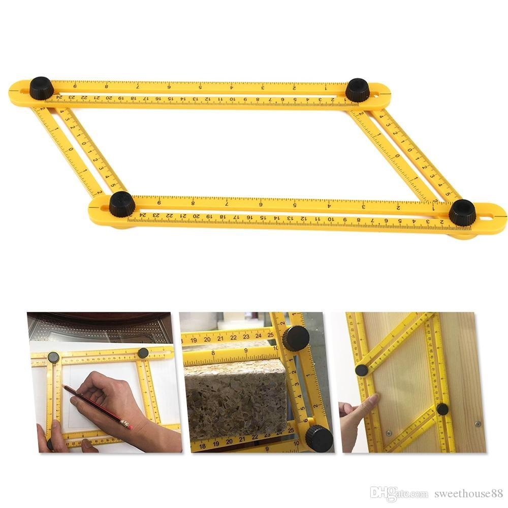 Multifunctional Four Folding Abs Ruler Portable Measuring Tool