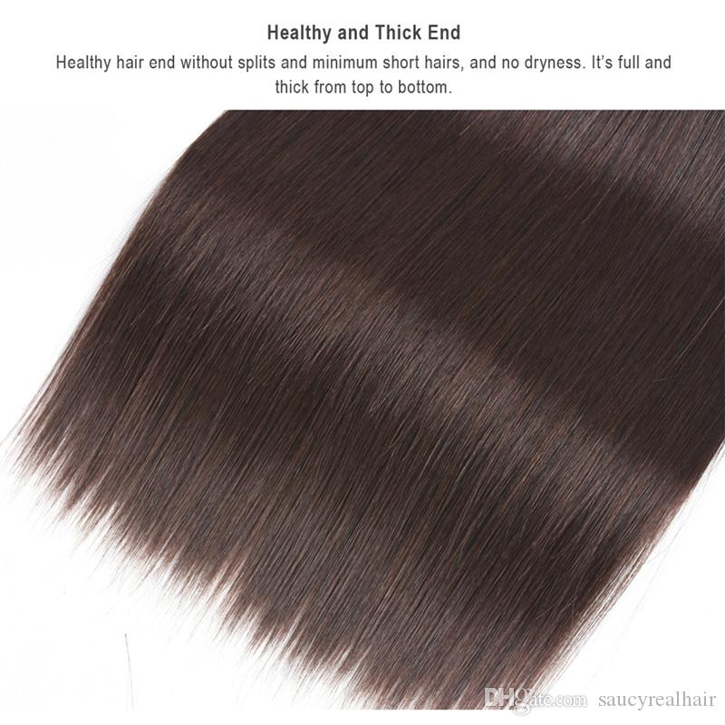 Dark Brown Color Human Hair Extensions 100g 16 18 20 22 24 26 inch Brazilian Indian Hair Weft 300g one