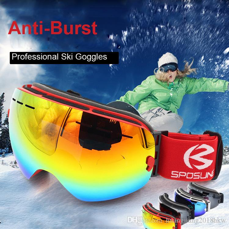 33611f79c1db 2019 Ski Goggles PRO Frameless Double Lenses 100% UV400 Protection Snow  Goggles Ski Glasses Men   Women For Sunny Day VLT 15% From  Huangjiang2018hkw