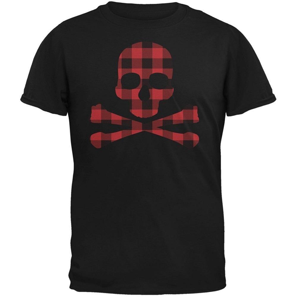 2c113a9125e0 Printed T Shirts Men'S Plaid Skull & Crossbones Short Sleeve Top Crew Neck T  Shirt Womens Shirt T Shart From Redbubbleshirt, $11.0| DHgate.Com