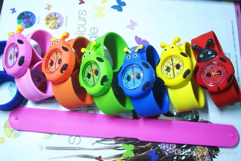cute Kids Watches For Girl Boy Cartoon brid slap kids baby girl boy wrist watch silicone jelly children sports watch