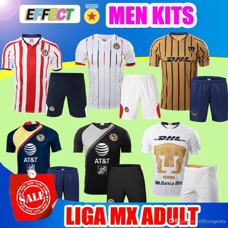 2019 Adult Kits 2018 2019 LIGA MX MEXICO Club America CHIVAS Guadalajara  Home Tigres UNAM Goalkeeper Soccer Jersey Men Sets 18 19 Football Shirts  From ... 1887d9ce7