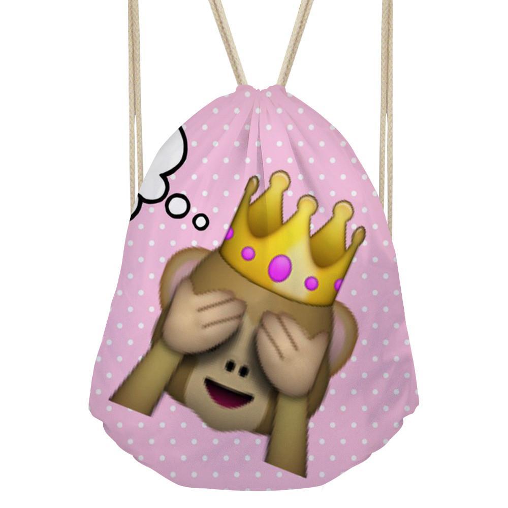 2018 Womens Drawstring Bag Animal Packaging Monkey Panda Print Fashion Package Children For Kids Girls Travel Gifts From Arrownet 2841