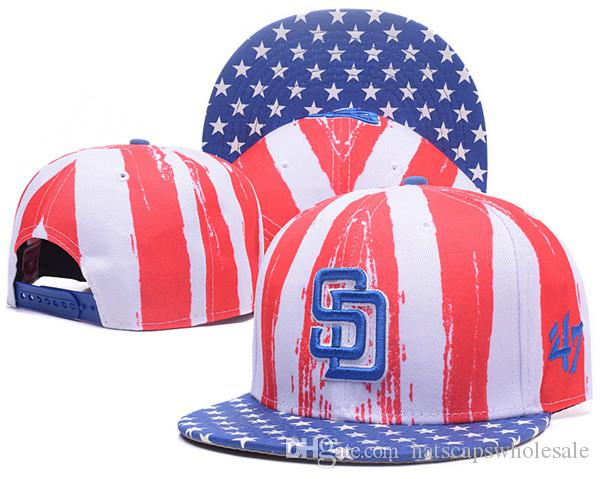 Wholesale Top Quality Padres Snapback Hats 47  Embroidered SD Letter Team  Logo Brands Hip Hop Cheap Sports Baseball Adjustable Caps Bones Trucker Hats  ... 470ba1c4222