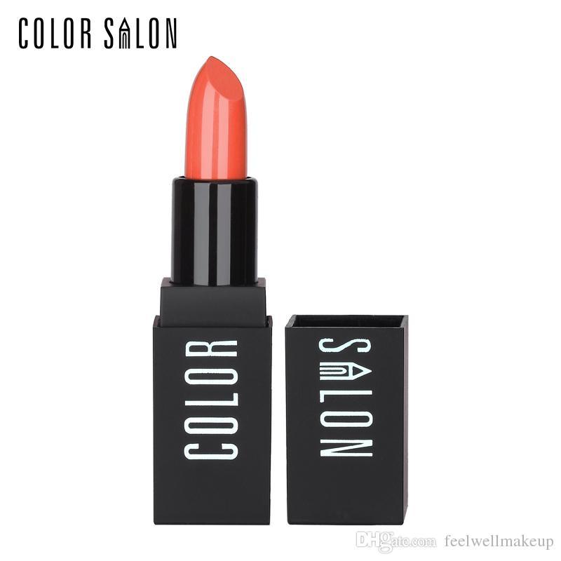 Color Salon Venta caliente Suave Crema Hidratante Lápiz Labial Fácil de usar Pintura roja Maquillaje Marca Pintalabios Pigmento Cosmético Nutritivo Sexy