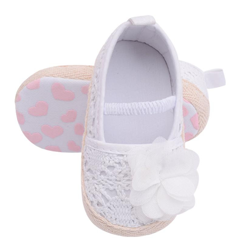 af70921cf230d 2019 Hand Made Knitting Infant Baby Princess Girls Shoes Pink White Shallow  Toddler Flower Anti Skid Soft Soled Bow Moccasin From Sightly